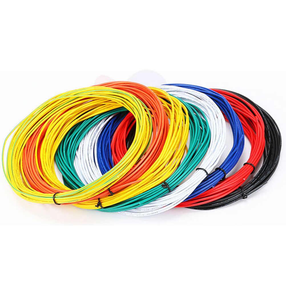 Super Flexible 5/10M 26AWG PVC Insulated Wire Electric Cable LED Cable DIY Connect 10 Colors