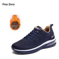 Fine Zero Men Winter Warm Plush Shoes Unise Comfortable Casual Shoes Men Autumn Lace Up Basket