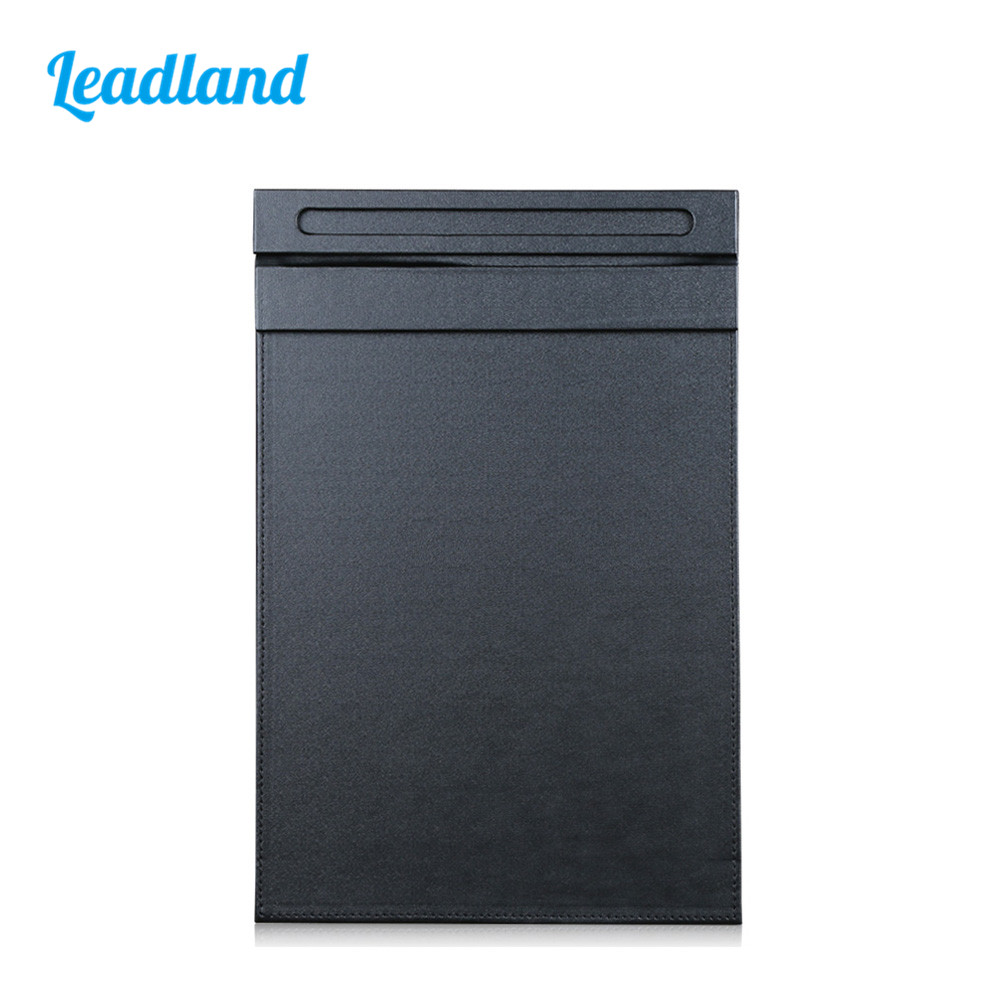 Magnetic Clip File Folder A4 File Paper Clipboard Folder For Office Supplies PU Leather 1277 Black Meeting Exhibition Use