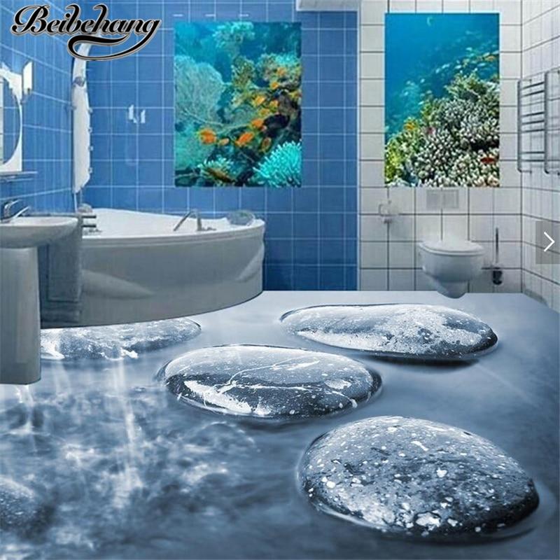 Beibehang Dekoration Wohnzimmer Boden Malerei 3d Selbstklebende Kopfsteinpflaster Wasser Stein Bad Fliesen