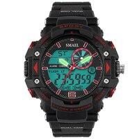 SMAEL G Estilo Quartz Relógio Homem Dos Homens Dual Time Digital do Camo Relógio esportivo Smael S Choque Militar Do Exército Dos Homens De Luxo Reloj Hombre