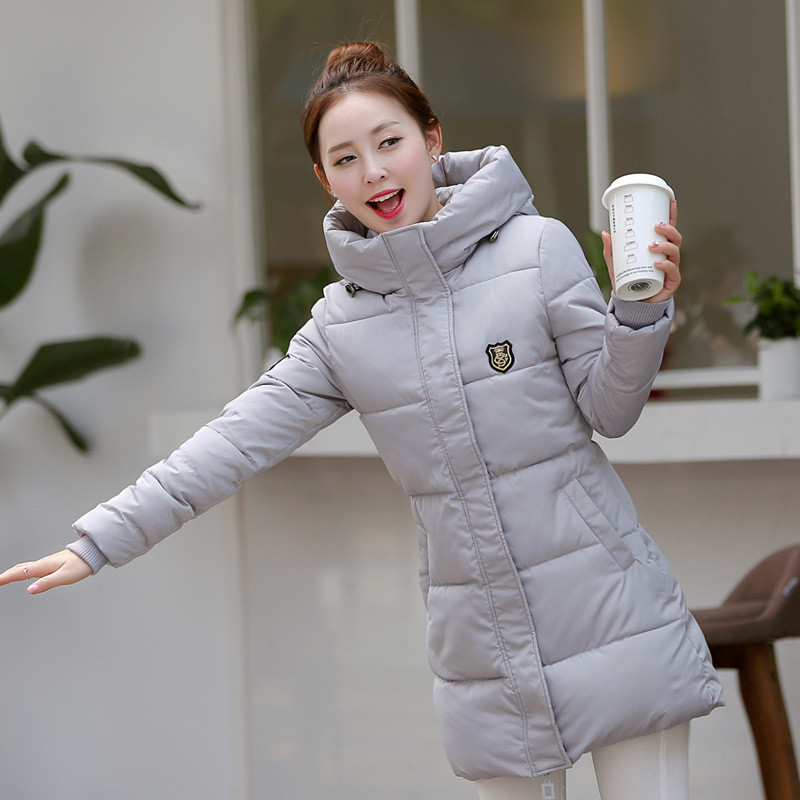2017 New Arrival Fashion Winter Women's Down Warm Coats Long sleeve Hooded Jackets Slim Style Casual Parka Coat Plus size 7color