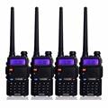 4 unids retevis rt-5r walkie talkie 5 w 128ch uhf y vhf de doble banda de radio de jamón de radio comunicador comunicador a7105a