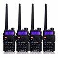 4pcs Retevis RT-5R Walkie Talkie 5W 128CH UHF&VHF Radio Dual Band Ham Radio Communicator Comunicador A7105A