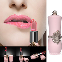 Fashion Design High Quality Lipstick Strong Waterproof Long Lasting  Moisturize Lipstick Lip Gloss Makeup Health & Beauty