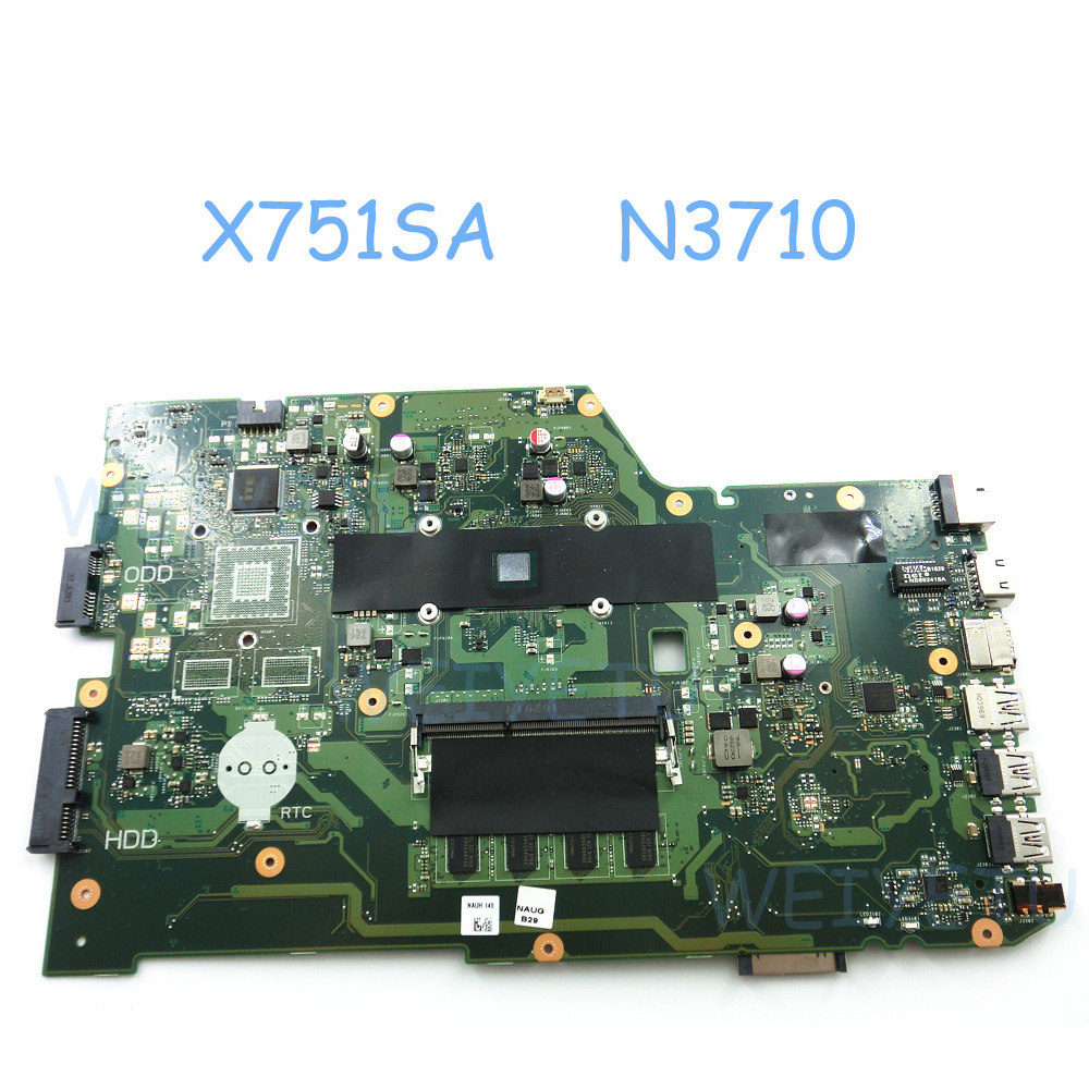 X751SA MAIN_BD._4G RAM With N3710 CPU Motherboard For ASUS X751SA X751M X751S X751MA X751LJ Laptop Notebook DDR3 4GB