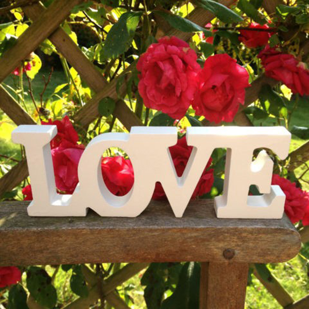 Персонализированные белый с надписью «Love» буквы Романтический Свадебные Аксессуары брак любовь свадьба знак