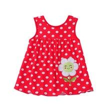 Летнее детское платье красивая модная одежда для девочек для новорожденных Принцесса платья трапециевидной формы из хлопка детская одежда из мягкой ткани детская одежда, платье
