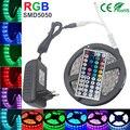 5 m 4 M 5050 Tira CONDUZIDA RGB 30 LEDs/m Fita RGB IP 20 Levou Diodo 10 m 5050 SMD faixa de led kit 5050 + 44 teclas de IR Remote + 12 V Power Adapter