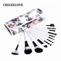 CHILEELOVE 12 Piece Complete Professional Makeup Brushes Kits Base Cosmetics Tool For Blusher Eye Shadow Foundation