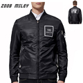 ZOOB MILEY Men Jacket Coats Loose Fit Causal  Windbreaker Jacket Zipper Coats Outwear Plus Size M-3XL