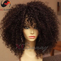 180 density Natural hair wigs short kinky curly wig human hair lace front wigs gluless full lace human hair wigs for black women