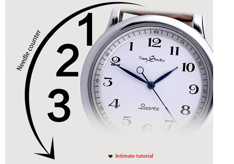 TS Anticlockwise Armbandsur Klockor Klockor Klockor Klockor Läderrem - Damklockor - Foto 6