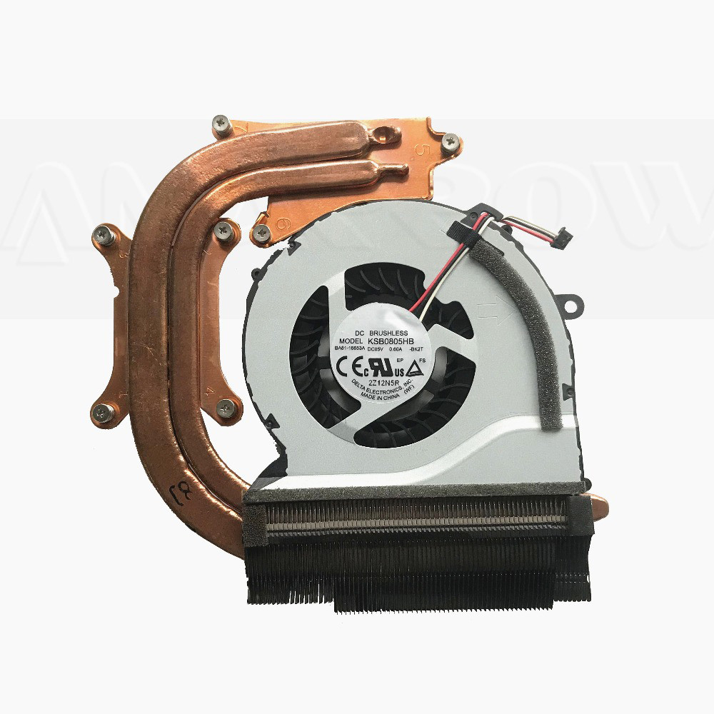 Original laptop cpu cooling heatsink fan For Samsung NP550P5C NP550P7C NP550 CPU heatsink fan KSB0805HB BA92-00675A BA92-00675C image