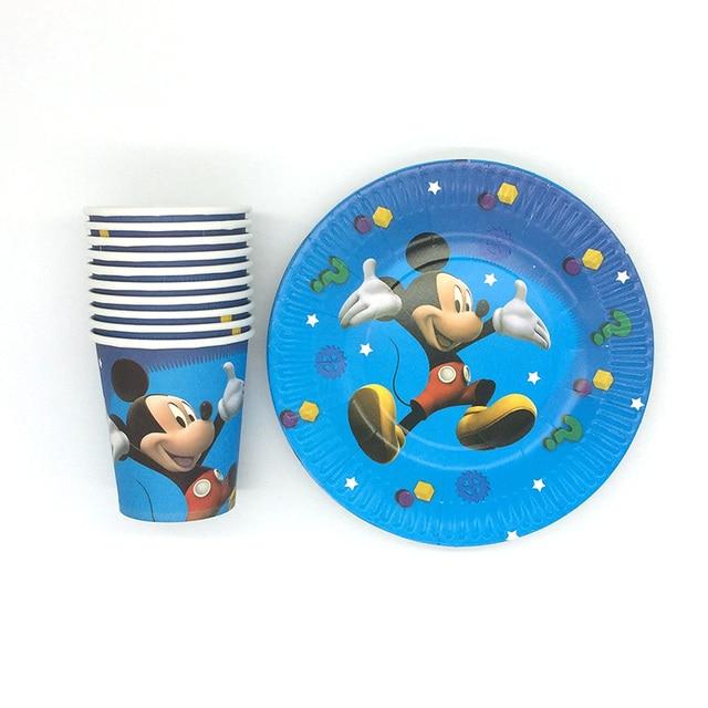20pcs\\lot Cartoon Party Sets Mickey Mouse Theme Tableware Paper 10pcs Plate+10pcs Cup  sc 1 st  AliExpress.com & 20pcs\\lot Cartoon Party Sets Mickey Mouse Theme Tableware Paper ...