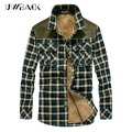 2017 new brand Plaid shirts Men long sleeve plus size shirt Winter Cotton shirts male 4xl High quality men clothes,CAA247