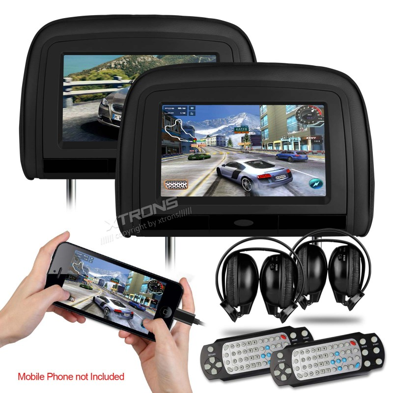 1024 600 font b Car b font Headrest DVD Monitor with Game HDMI Port DVD USB
