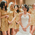 Shinning Short Gold Bridesmaid Dress With Sleeves Sequin Bridesmaid Dresses Mini Bridesmaid Gowns For Wedding Party Dress B80