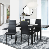 New Style Double Dining Chair Made Of High Quality PU And Metal Tube Chair Slap Up