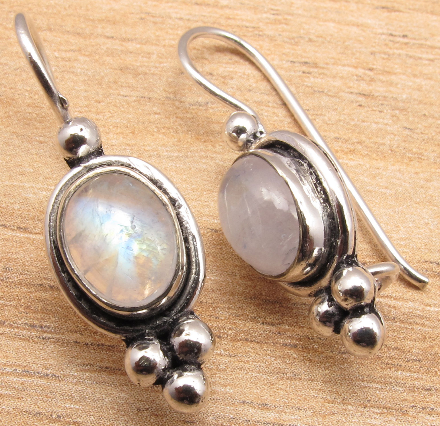 Silver Plated MOONSTONE, PEARL, LARIMAR & More Gem CHOICES Earrings Buy Any 3.1 cm fateful choices