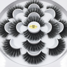 7 Pairs Mink Eyelashes Wholesale 18mm Dramatic Long Thick Volume Lashes Make Up 3d Eyelashes Handmade False Eyelashes CJH7 32