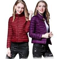 2019 Fashion women keep warm winter 90% White eiderdown jacket/Men slim Fit Stand collar Super light thin Down jacket
