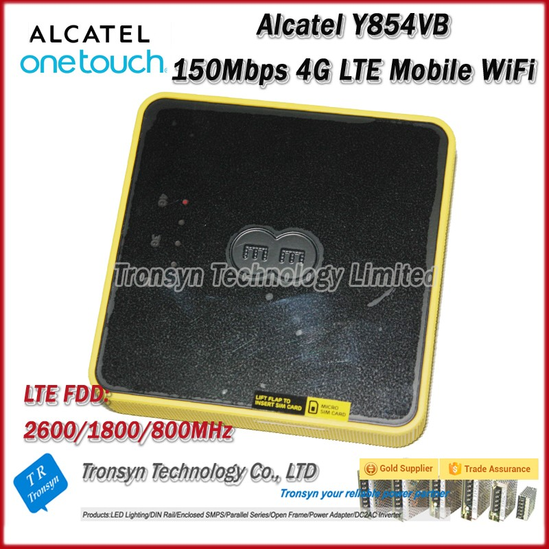 Wholesale Original Unlock Alcatel Y854 150Mbps 4GLTE WiFi Router With Sim Card Support LTE FDD B3 B7 B20 free shipping original unlock 150mbps huawei e5575s 210 protable 4g lte wifi router support lte fdd b3 b7 tdd b38