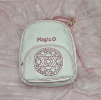 White Anime Card Captor Sakura School Shoulder Bag Kinomoto Lolita Magic Backpack Girl Gift