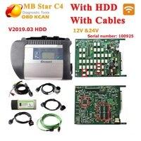 Лучшее качество! MB star c4 подключение полный комплект + 03/2019 HDD компактный sd C4 с wifi mb star c4 новейшее программное обеспечение для автомобилей 12 В и