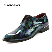Plardin Men Genuine Leather Boots Winter Snow Boots Fashion Platform Carved Oxford Men Shoes Cow Split