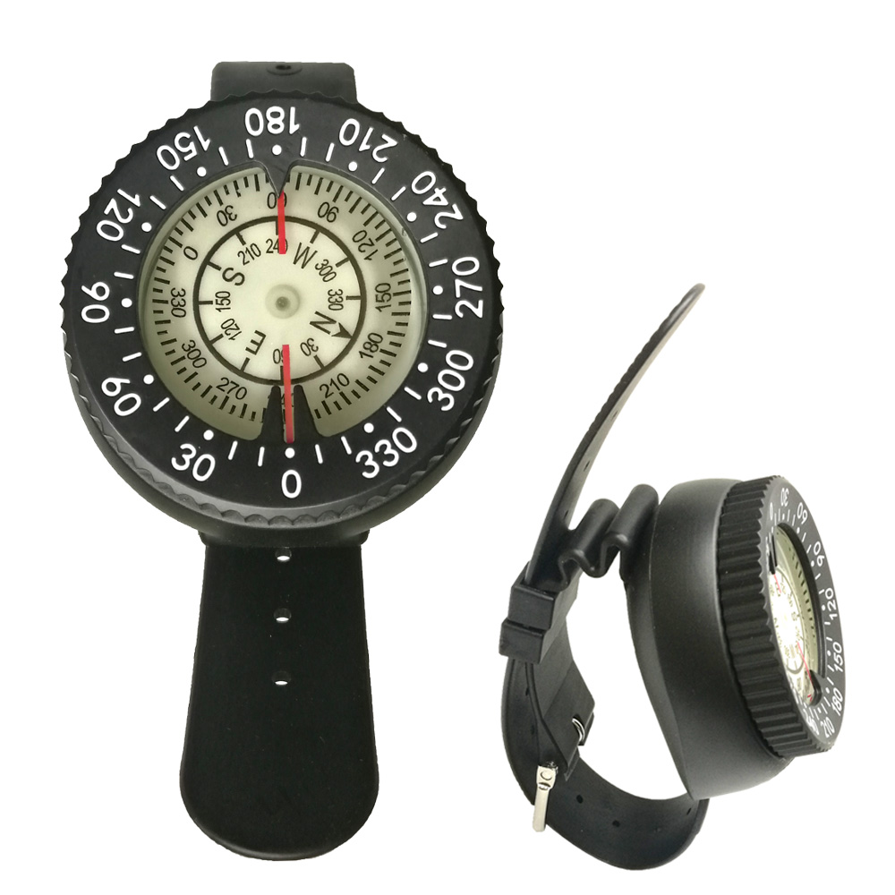 Scuba Diving Underwater Pointing Guide Navigation Wrist Compass Gauge Water Swimming Diving Compass