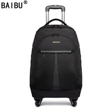 BAIBU Women Oxford Rolling Luggage Suitcases on Wheel Men Business Trolley Spinner Fashion Cabin luggage Travel Bag Soft Trunk(China)