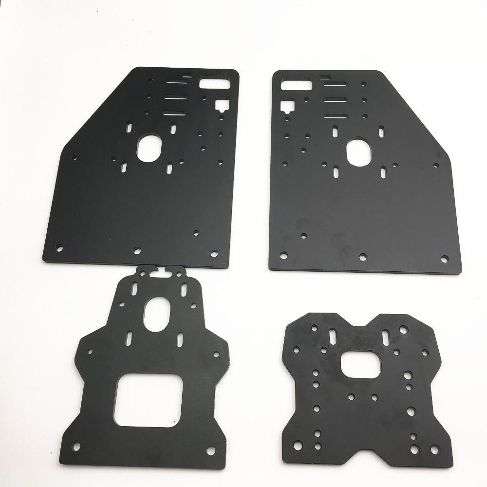 Funssor OX CNC Aluminium Plates Kit OX CNC Gantry Plate Set Openbuilds OX CNC ROUTER KIT
