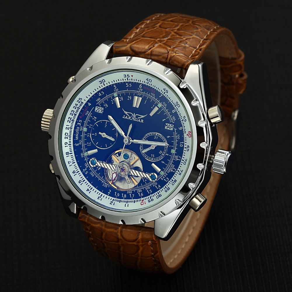 2017 TOP Brand Luxury Men Watches Fashion Auto Date Calendar Leather Band Automatic Mechanical Watches  Relogio Masculino  все цены