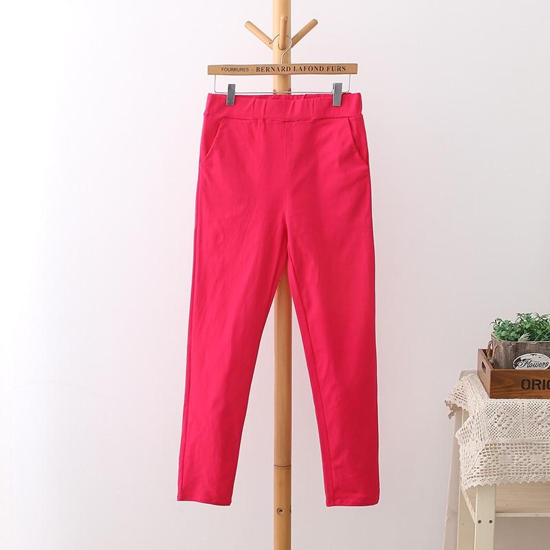 6 Colores Pantalones de Cintura Alta de Mujer Más Tamaño 3 4 5 XL - Ropa de mujer - foto 4