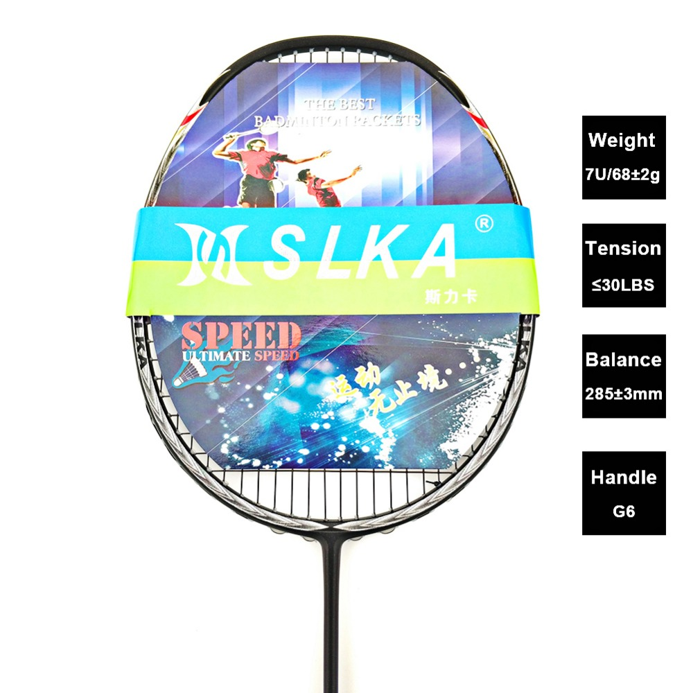 Professional 7U 68g Strung Carbon Badminton Racket Super Light Badminton Racquet Training Rackets with Bag badminton racket n92 professional carbon fiber 4u high quality super light offensive badminton racquet string grip shuttlecock