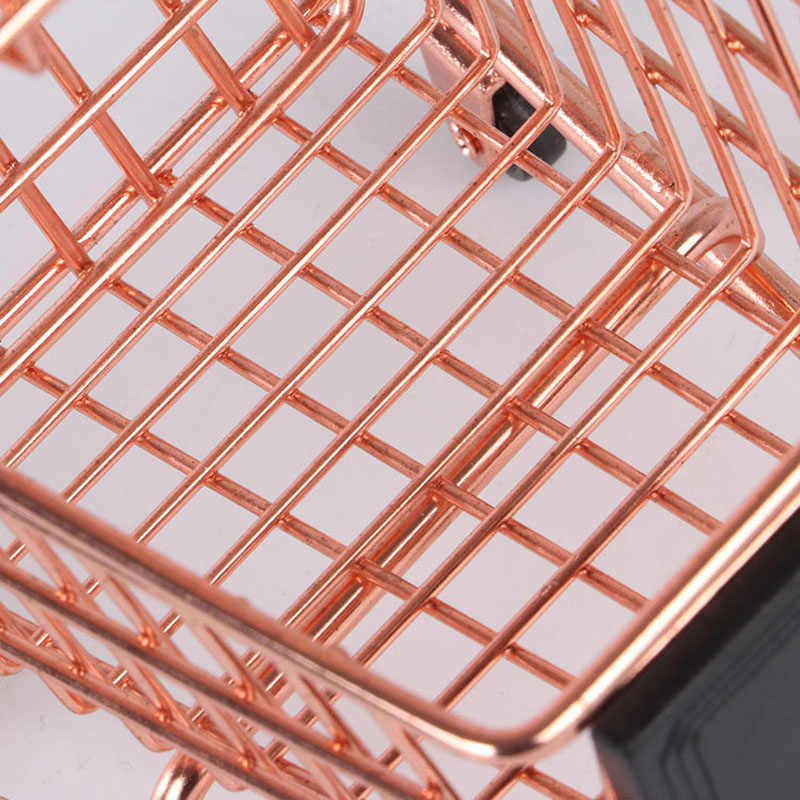 400357a22 ... 2019 New Creative Mini Double Layers Shopping Cart Model Wrought Iron  Supermarket Trolley Vogue Metal Rose ...