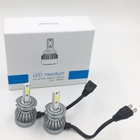 2X FREE SHIPPING CHEAPEST C1 F6 H7 72W 7600LM AUTO BULB KIT LIGHTS LED LAMP WHITE