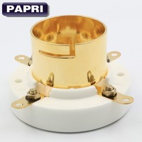 2PCS Big 4PIN Gold Plated U4J Vacuum Tube Socket Amplifier Audio HIFI DIY Or 845 211
