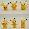 6 pcs Pokemon Pikachu Anime Toy Figuras de Ação 5 cm Figura Brinquedos Bonecas Anime Pokemon Pokeball Bola de Plástico Para Crianças
