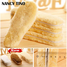 NANCY TINO Unisex Artificial Cashmere Vinter Innersula, Högkvalitativ Foot Värmare Andas Skor Insoles For Men Women 1 Pair