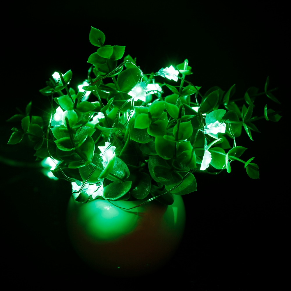 2W DC4.5V 3xAA Battery Power 0603 SMD Silver Copper Wire String Lights  20pcs Christmas Tree LED Bulbs IP65 Waterproof 2 Meter
