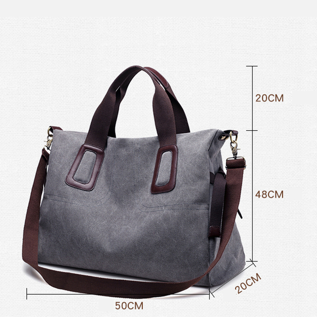 Canvas Women Handbags Casual Large Capacity Female Totes Hobos Solid Crossbody Shoulder Bag 2