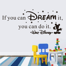 IF YOU CAN DREAM IT DO Inspiring Quotes Wall Stickers Home Art Decor Decal Mural For Kids Rooms