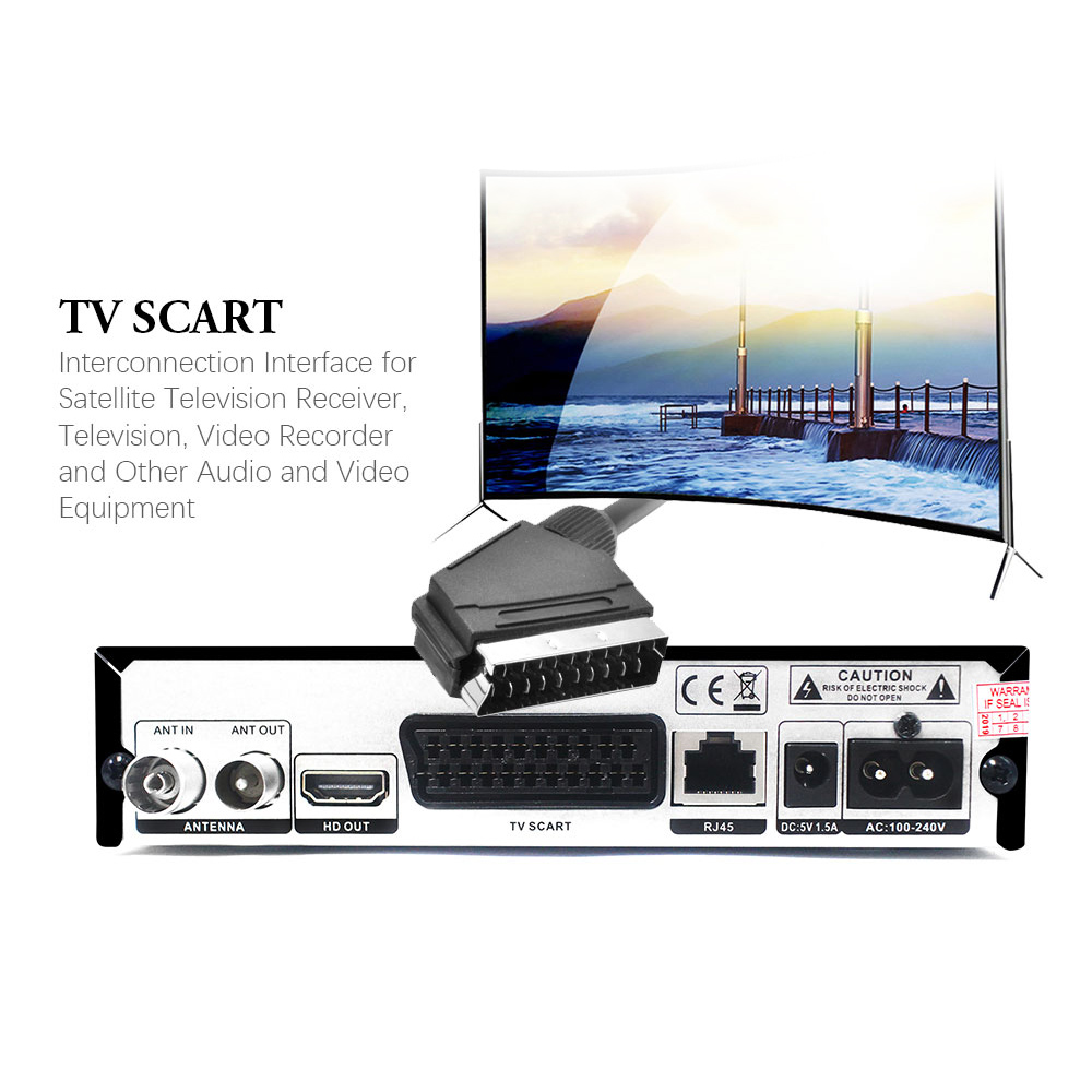 Image 5 - Vmade Fully HD Digital DVB T2 K6 scart/AV Terrestrial Set Top Box Support H.265 HEVC HD 1080p Dolby AC3 DVB T2 TV Receiver Tuner-in Satellite TV Receiver from Consumer Electronics