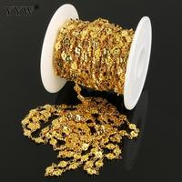 10m/lot Stainless Steel Flower shaped Jewelry Making Chain Gold/Original Handmade Necklace Bracelet Metal DIY Accessories