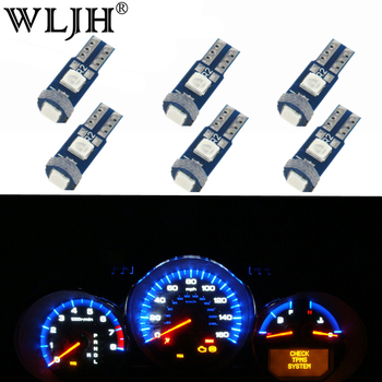 WLJH 6x Canbus T5 LED 3030 SMD 74 Lamp Car Dash Instrument Panel Light Bulb for BMW E30 E32 E34 E36 E21 E28 E12 E38 E31 E83 image