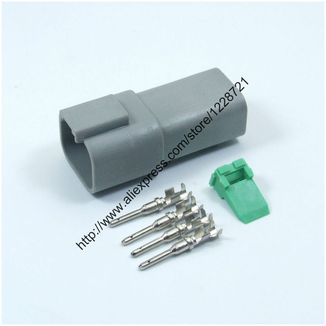 4 Way Plug Connector Kit AT04 4P 4 Pins Female Wire Connector Kit ...