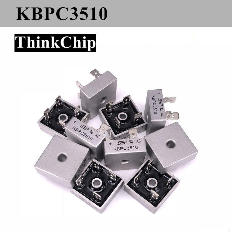 Free Shipping 2 PCS / Lot KBPC3510 35A 1000V Diode Bridge Rectifier