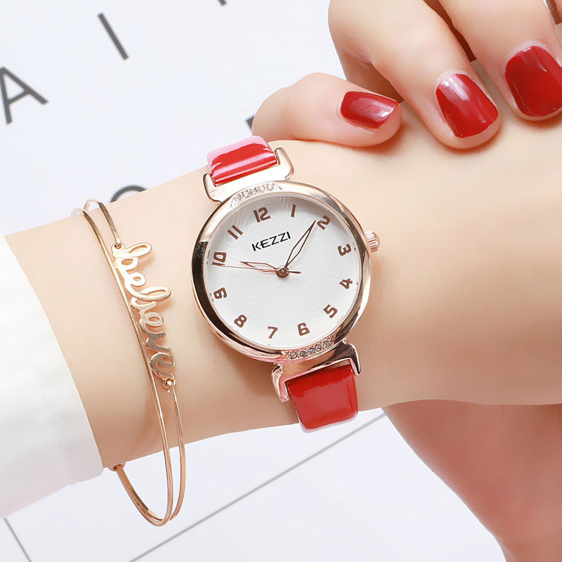 KEZZI Brand High Grade Gift Female Watch Women Fashion Casual Leather Watches Luxury Classic ladies All match Quartz Wristwatch in Women 39 s Watches from Watches